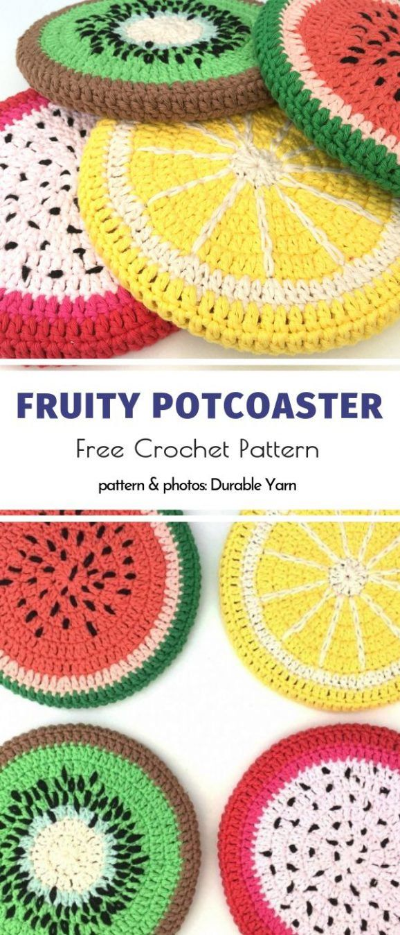 Fruity Crochet Accessories Free Patterns