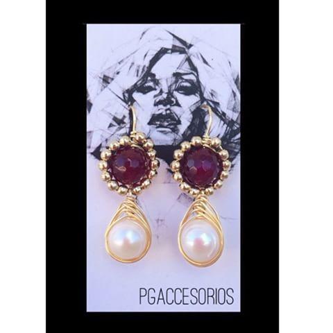 Handmade #pgaccesorios #chapadeoro #handmadejewelry #aretes #earrings #hechoamano #joyeria #100%hechoamano #jade #perla