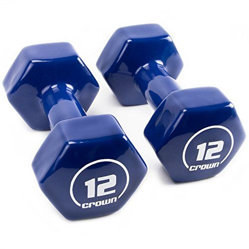 Brightbells Vinyl Hex Hand Weights, Spectrum Series I: Tropical - Colorful Coated Set of Non-slip Dumbbell Free Weight Pairs - Home & Gym Equipment (12).