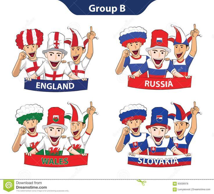 Euro 2016 Der Gruppen-B Vektor Abbildung - Bild: 65636976