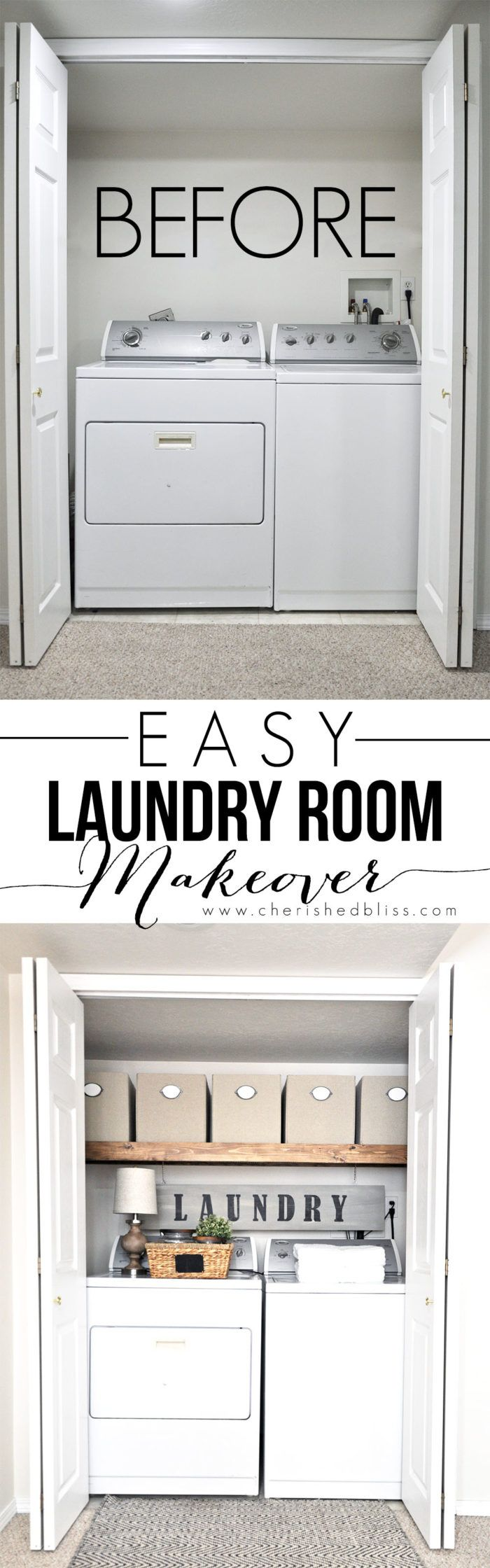This Laundry Room Makeover transforms this little closet with wasted space into…                                                                                                                                                                                 More