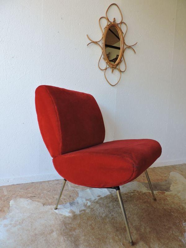 fauteuil chauffeuse pelfran des ann es 60 c te et vintage pinterest chauffeuse les ann es. Black Bedroom Furniture Sets. Home Design Ideas