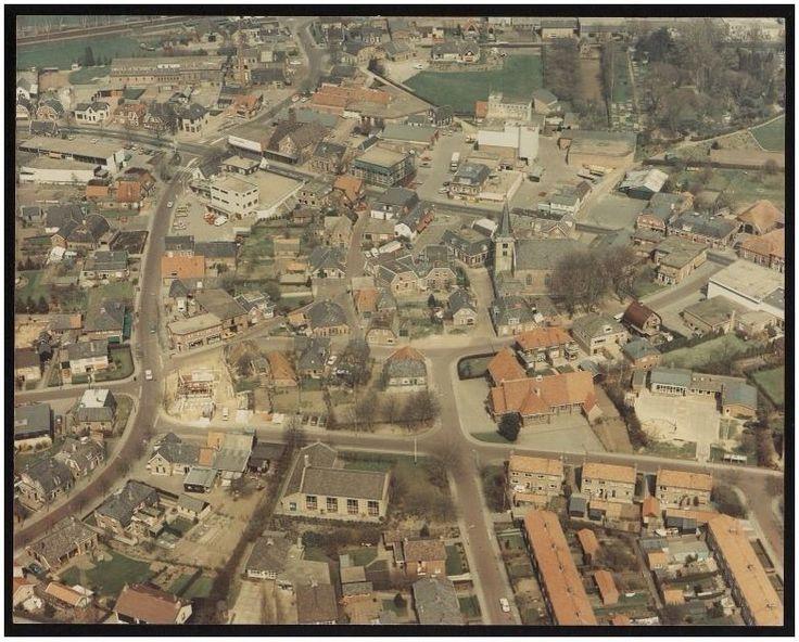 Holten vanuit de lucht omstreeks 1970. Bron: Leven in Holten