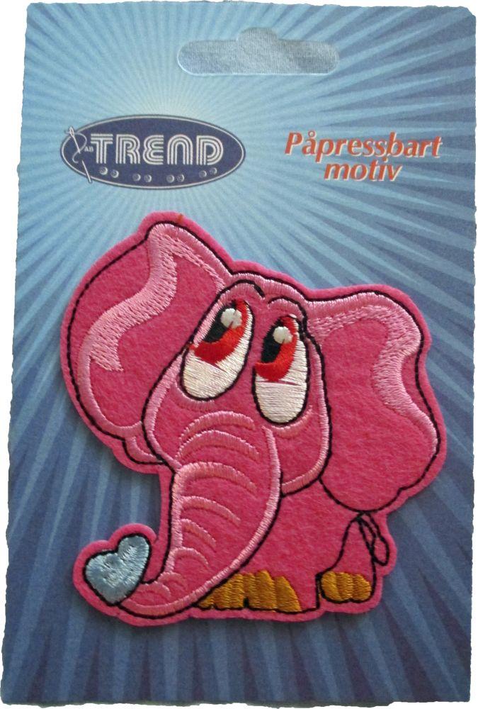 Brodyrmärke Rosa Elefant