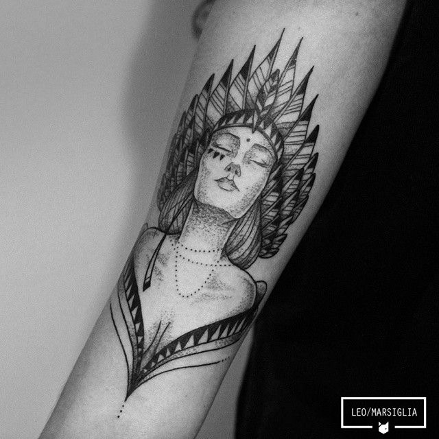Dotwork tattoo !                                                       …