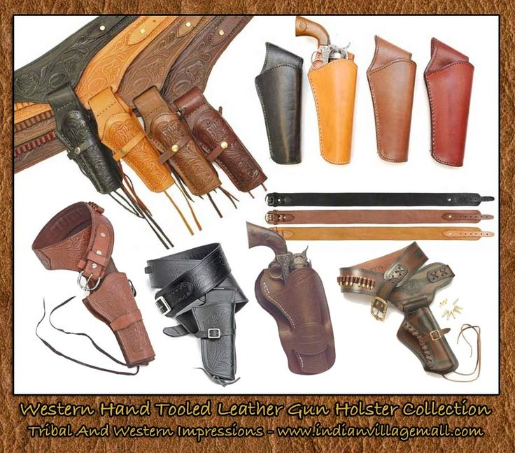 Old West Gun Holsters And Gun Belts -From Tribal And Western Impressions- Review the collection off of: http://www.indianvillagemall.com/gunholsters.html