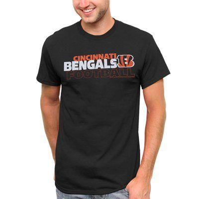 Cincinnati Bengals Horizontal Text T-Shirt - Black