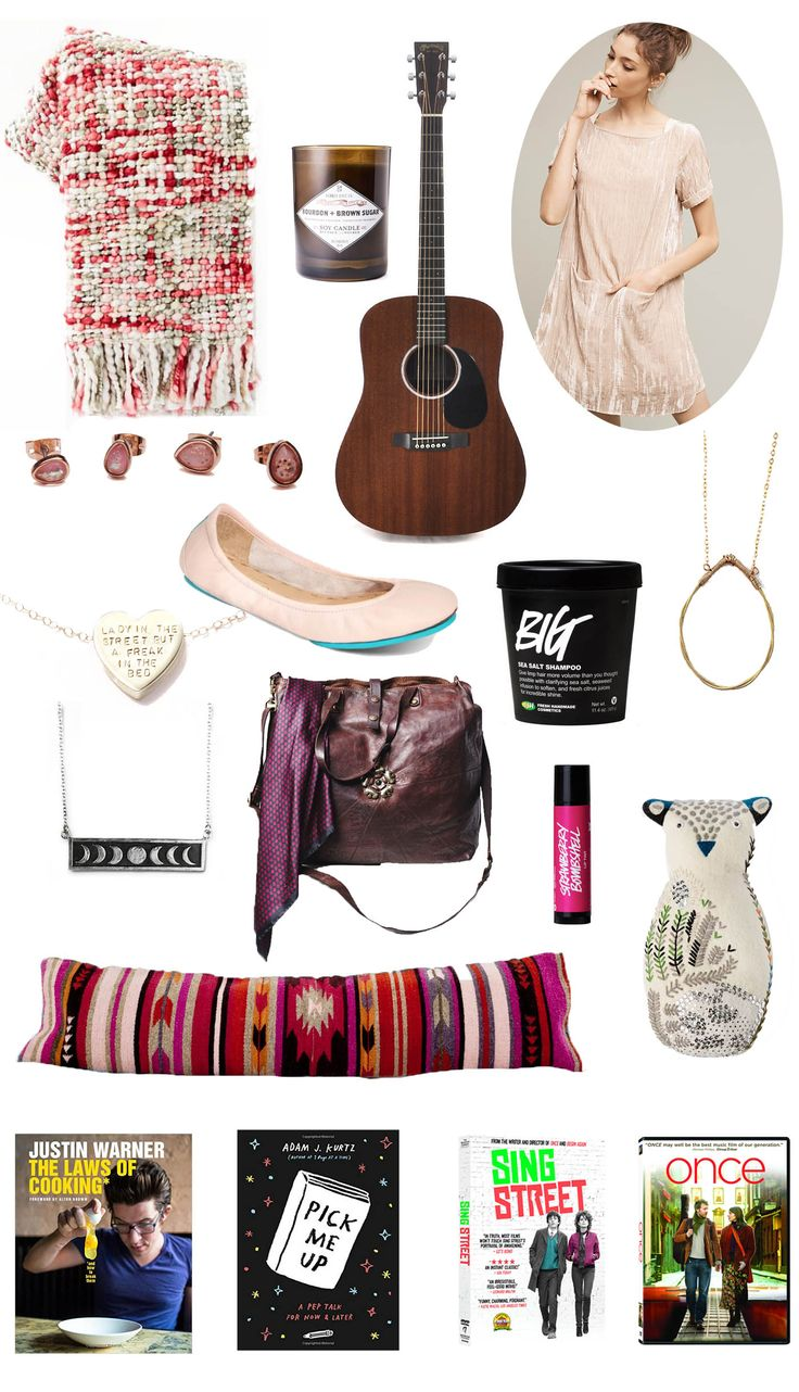 Things you should probably buy for me. West Elm Marled Basketweave Throw, Sydney Hale Bourbon and Brown Sugar Candle, Martin Dreadnought Guitar, Anthropologie Crinkled Velvet Tunic, Free People Glitter Bomb Stud Set, Customizable Heartbeats Necklace, Ballerina Pink Tieks, Lush BIG Shampoo, Twisted Tear Drop Necklace, Moon Phase Necklace, North Star Tote, Lush Strawberry Bombshell Lip Tint, Baya Lumbar Pillow, The Laws of Cooking: And How to Break Them, Pick Me Up: A Pep Talk for Now and…