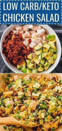 Auf der Suche nach Ideen für ein gesundes Mittagessen? Machen Sie dieses köstliche Keto-Hühnchen-Salat geladen mit …   – recipes