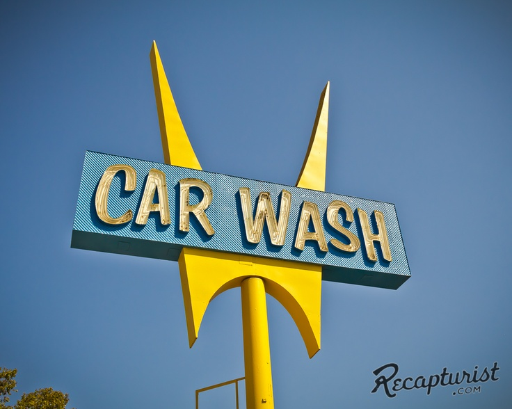 Five Points Hand Car Wash (Whittier, CA). Vintage sign photography by Recapturist. Purchase as a print or canvas. Many sizes available. http://www.recapturist.com/portfolio/five-points-hand-car-wash/