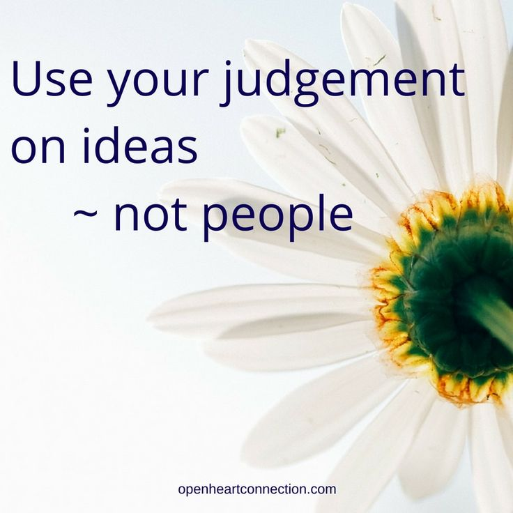 Keep judgement in its place x