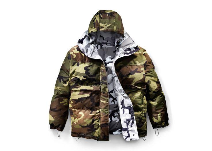 concepts x canada goose camo down jacket