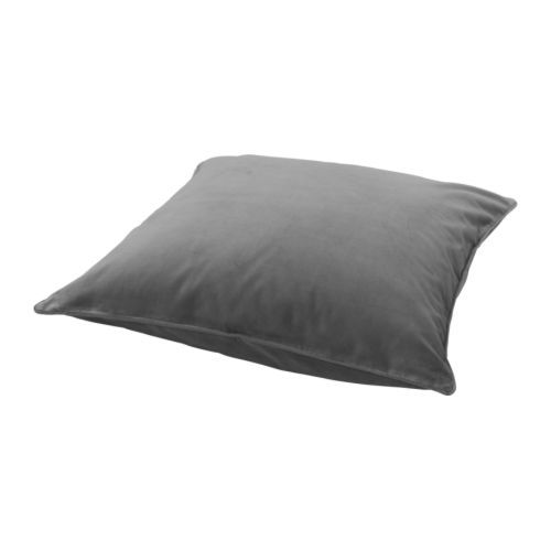 IKEA SANELA Cushion cover Grey 65x65 cm Cotton velvet gives depth to the colour and softness to the touch.