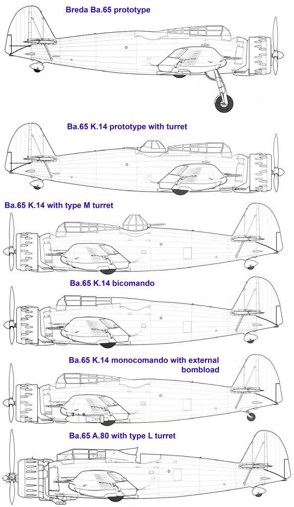 Breda Ba.65 evoluzione dalla prima serie.