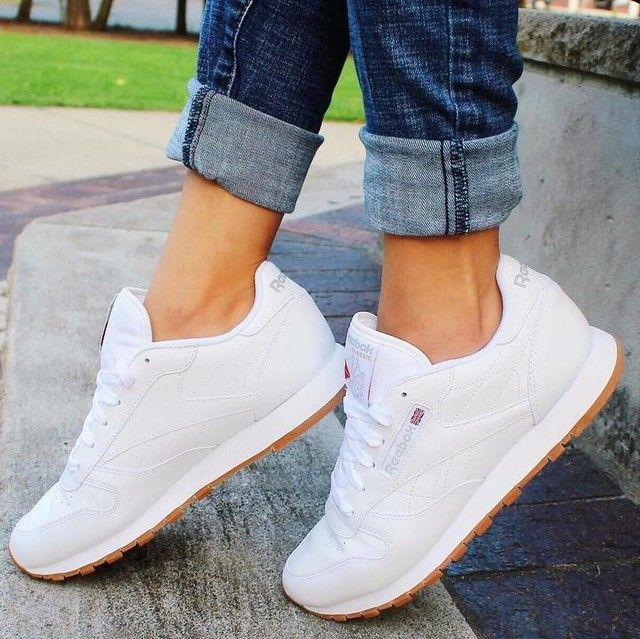 Classic Leather Women's Shoes   Zapatos tenis para mujer
