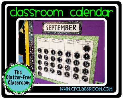 Not a huge fan of your classroom calendar? Use these teacher hacks to make it prettier!