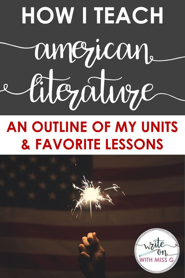 Teaching American Literature: My Units & Favorite Lessons