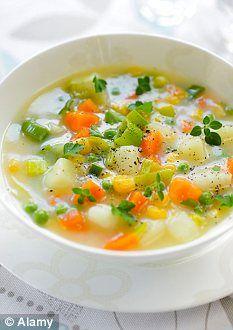 """Sopa """"milagro"""" Dukan: es una sopa muy diurética, ideal para dar un pequeño empujón en periodos de estancamiento.  Crucero PV Receta en castellano https://www.facebook.com/note.php?note_id=303840803023805"""