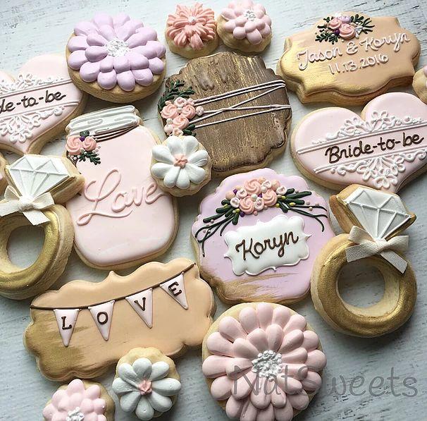 203 Best Wedding Cookies Images On Pinterest