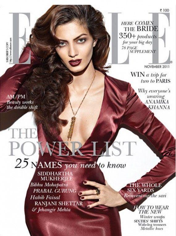 Jyothsna Chakravarthy on the cover of Elle India November 2011