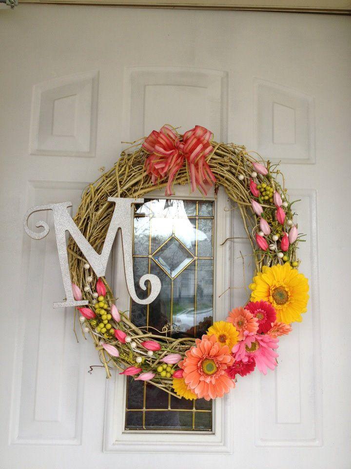 new spring wreath! diy!