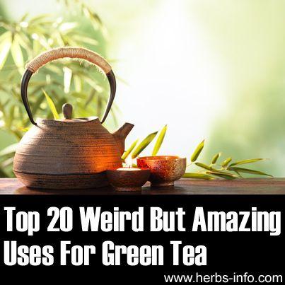 "Top 20 ""Weird But Amazing"" Uses For Green Tea►►http://herbs-info.com/blog/top-20-weird-but-amazing-uses-for-green-tea/?i=p"