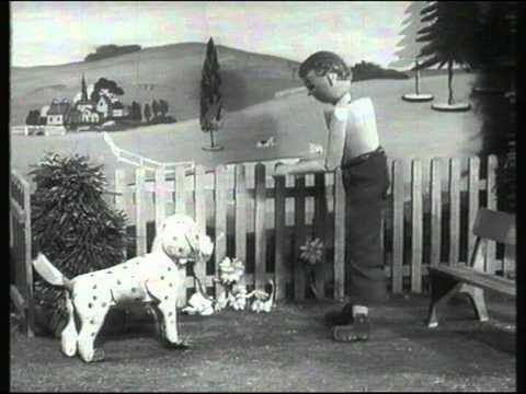 Daddy wooden top and spotty dog.