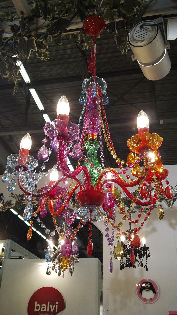 Colourful kitsch chandelier - Balvi [#maisonobjet September 2013]