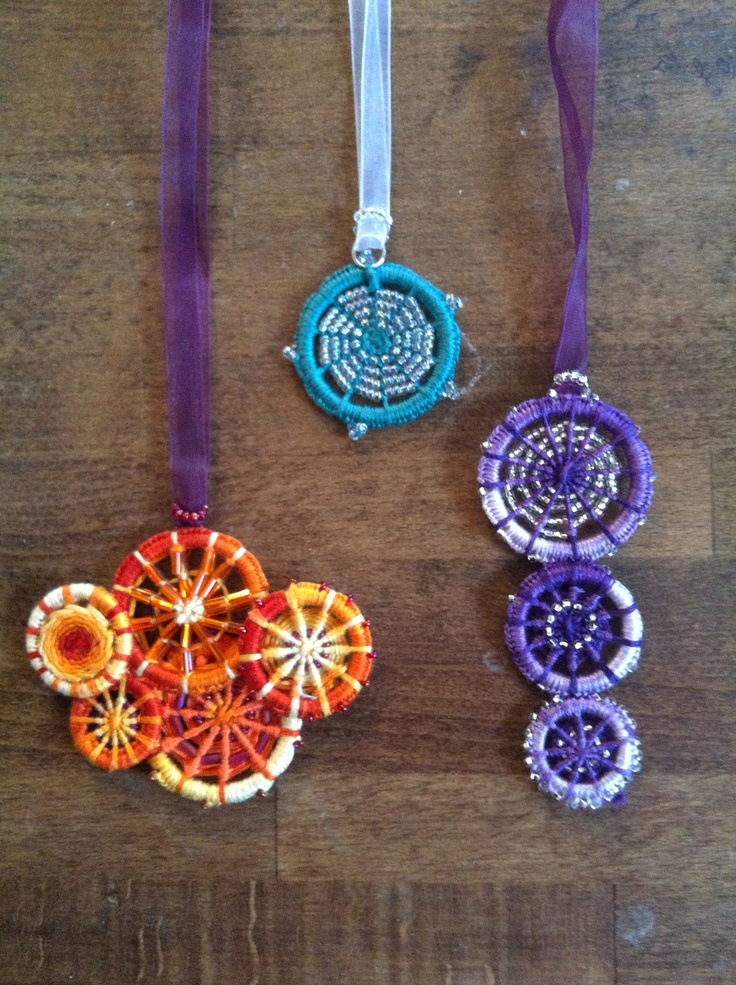 Dorset button necklaces