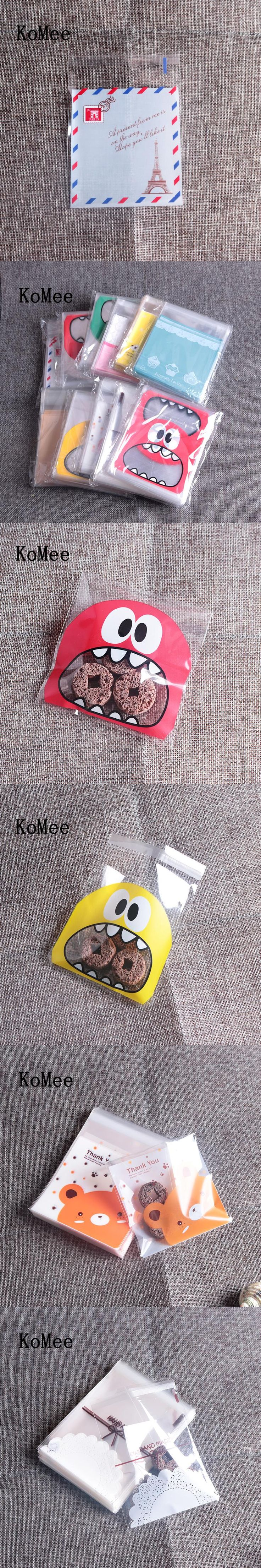 Cute Cookie Platic OPP Bag 7*7+3cm Biscuit Plastic Pouches Big Mouth 500pcs/lot Many Style You Can Choose Small Bags Wholesale