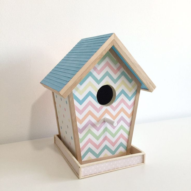 Casa de madera para pájaros. de ColorfulWoodStore en Etsy