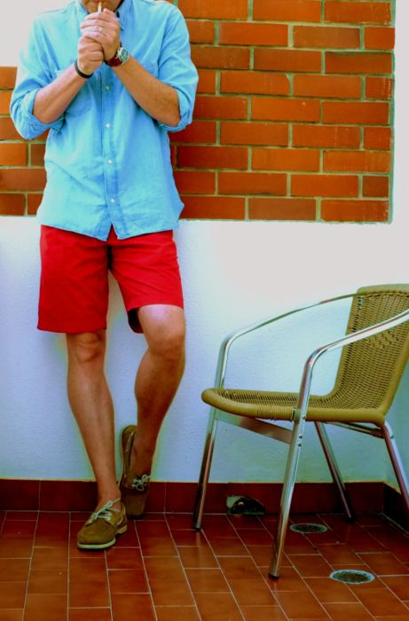 nice shorts, could be slimmer, boat shoes should be classic style only