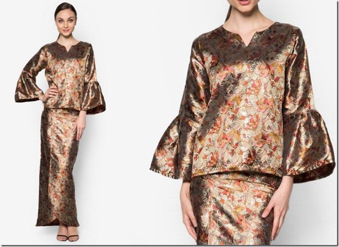 gold-brocade-kurung-kedah / 7 Modern Baju Kurung Ideas To Wear Come Eid 2016