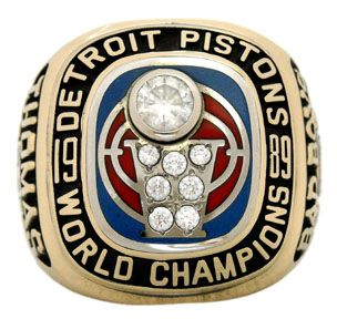 1989 Detroit Pistons NBA Championship Ring
