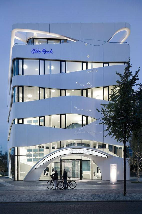 323 best facade curve images on pinterest facades for Modern design building company