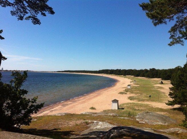 One of Finlands longest beach; Tullinniemen ranta, Hanko, Finland.