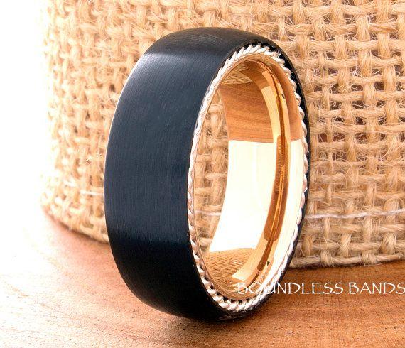 Tungsten Ring Wedding Mens Womens