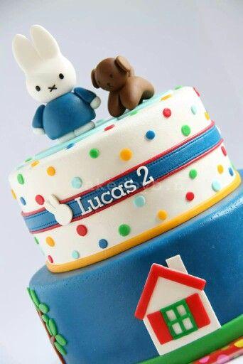 Nijntje taart miffy cake bakedbyb.nl