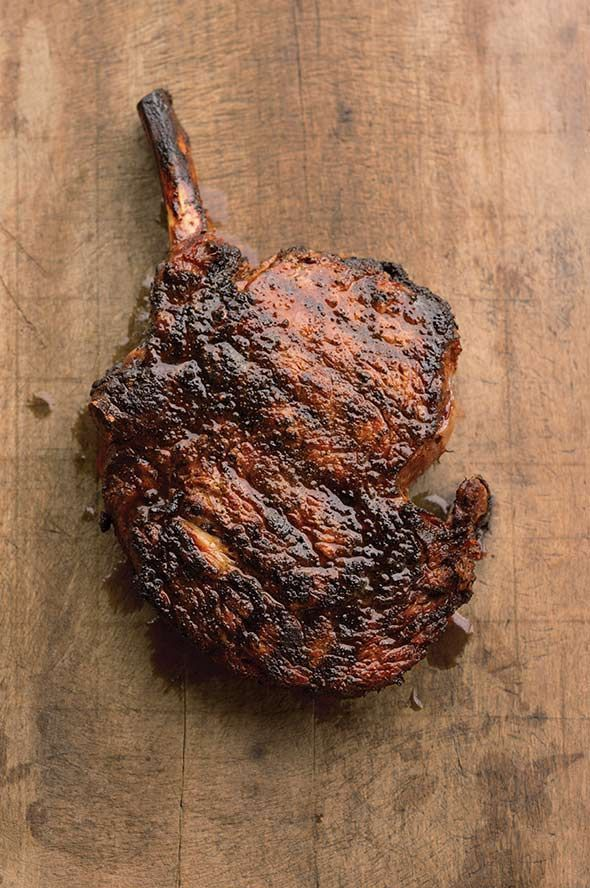 "Cowboy Steak with Coffee Rub Recipe (""This coffee rub is AMAZING!"" ""Best coffee rub EVER!!!"" ""Perfection."" That's what folks are saying about this coffee and chile powder rub for rib eye. Sorta makes you want to try it, huh?)"
