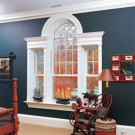 A Palladian window from Heartwood Fine Windows & Doors looks period-appropriate indoors and out.