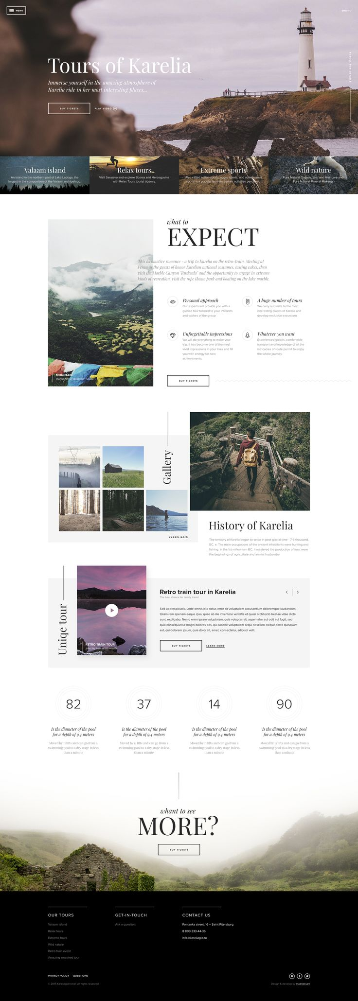 Tours of Kareliya by Tema Streltsov #web #design #layout #travel