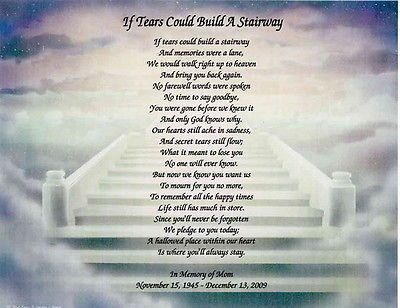 Memorial Personalized Poem Loss Of Mother Daughter Wife