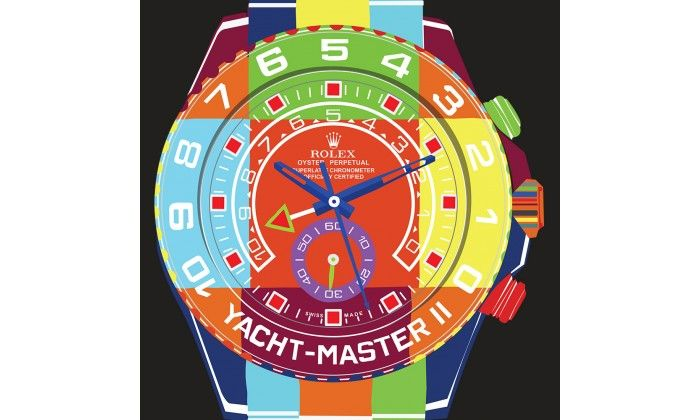 Yacht Master II POP ART Watch On Black - Limited Edition of 20 only