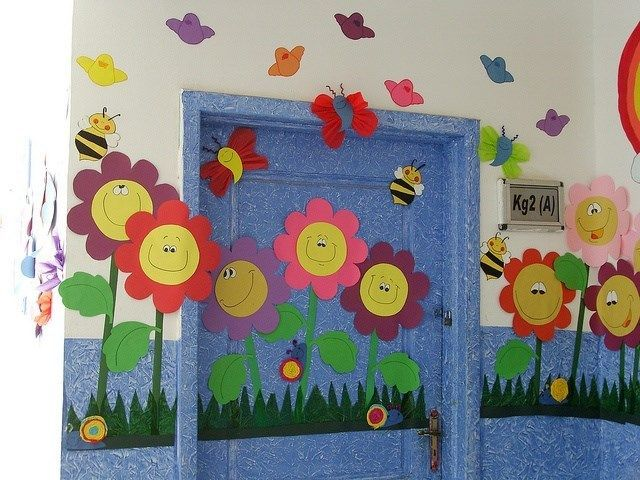 This would be fun for a back to school door with each student's name on a flower!