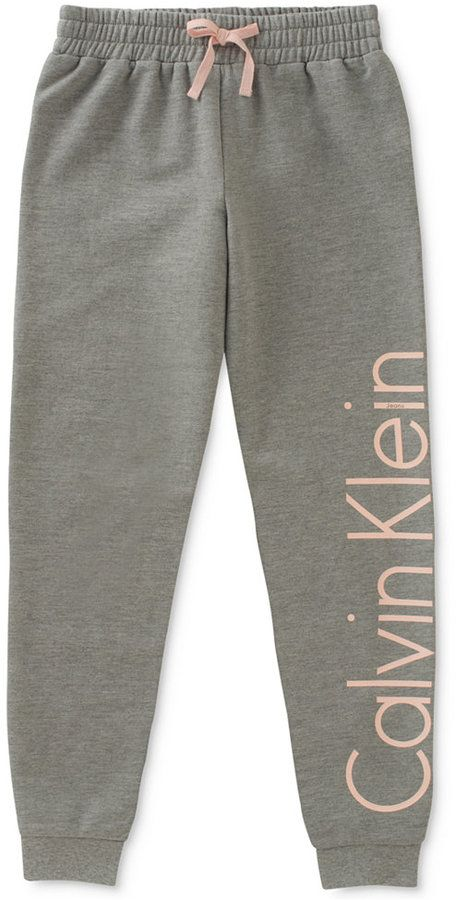 Calvin Klein Logo Sweatpants, Big Girls (7-16)