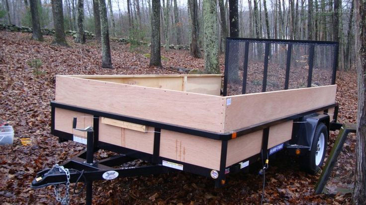 Building Wooden Sides For a Utility Trailer