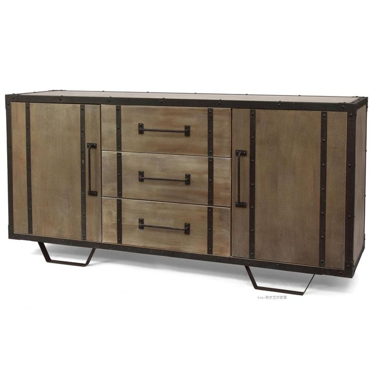 American retro to do the old antique sideboard kitchen cabinet storage cabinet lockers lockers Iron Process