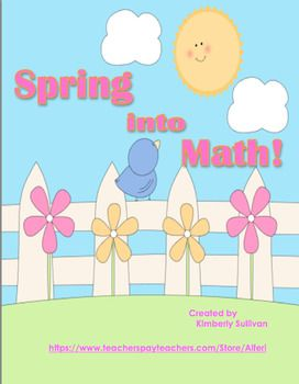 Hello Teachers,I hope your students enjoy this Happy Spring math worksheet. Students will look at the picture to solve the math problems.This can be used for math centers, early finishers, extra credit or just for fun! Answers included!Thanks for visiting my store and follow me for more freebies, sales, and new products.Sincerely,Kimberly Sullivan Alferi