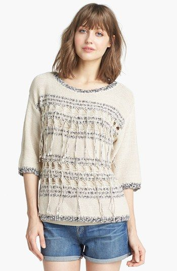 Trouvé Fringe Trim Sweater available at #Nordstrom