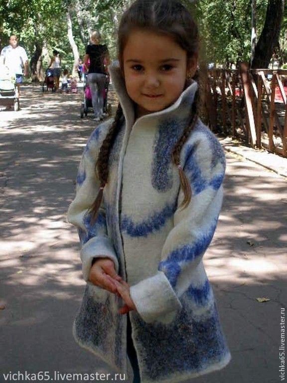 """Купить Валяное пальто """"Снегурочка"""" Павловопосадский платок - белый, орнамент, БЕЛОЕ ПАЛЬТО, Нарядное пальто"""